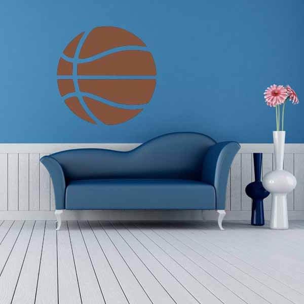 新生活期間セール 茶色いバスケットボールのウォールステッカー 大サイズ1枚【画像8】