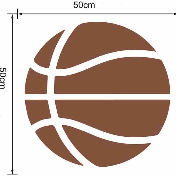 新生活期間セール 茶色いバスケットボールのウォールステッカー 大サイズ1枚【画像9】