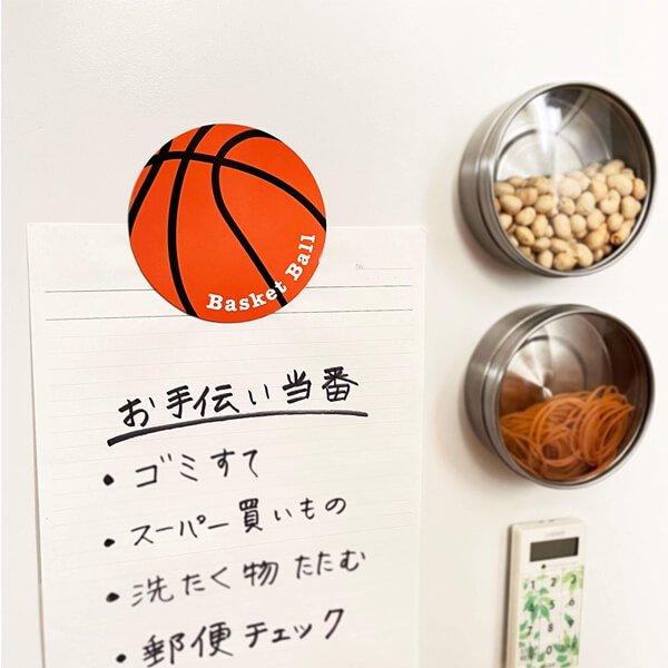 サークルマグネット オリジナルバスケットボール1個