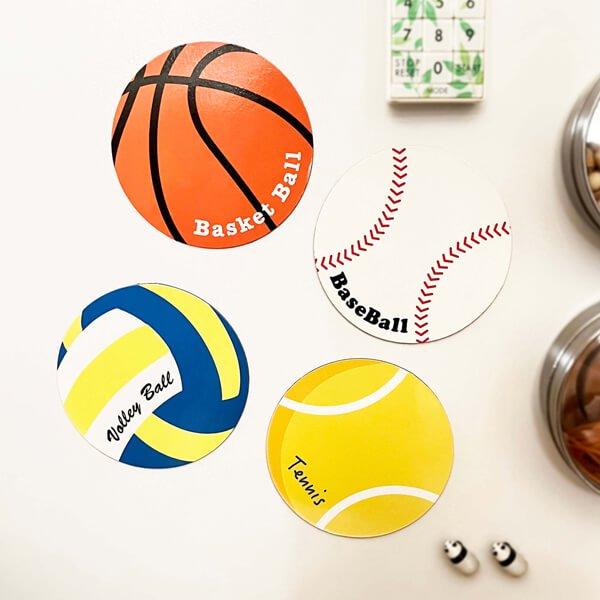 サークルマグネット オリジナルバスケットボール1個【画像2】