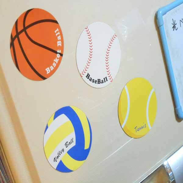 サークルマグネット オリジナルバスケットボール1個【画像3】