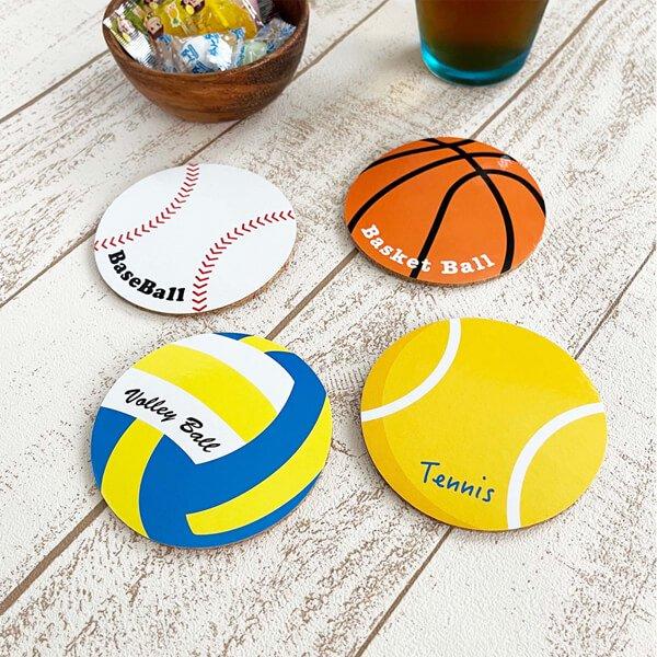 セットがお得 オリジナルコルクコースター バレーボール型 単価115円〜【画像5】