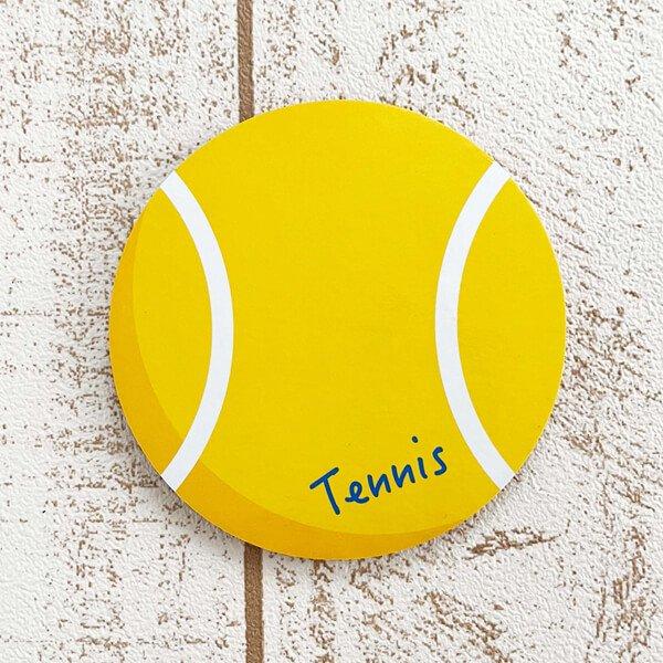 セットがお得! オリジナルコルクコースター テニスボール型 単価115円〜