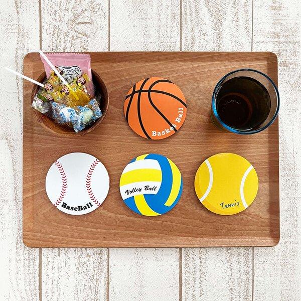セットがお得! オリジナルコルクコースター テニスボール型 単価115円〜【画像4】