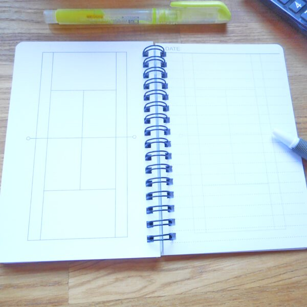 テニスコートの手帳型作戦ノート【画像2】