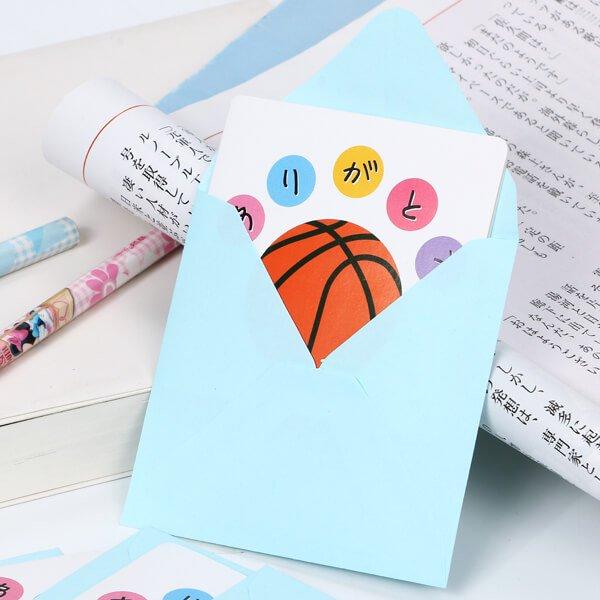 バスケットボールグッズ・オリジナル セットがお得 バスケットボール用ミニメッセージカード 単価68円〜【画像2】