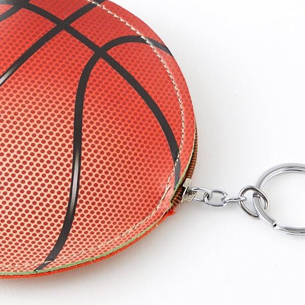 バスケットボール柄のサークルマルチケース キーリング付き【画像3】