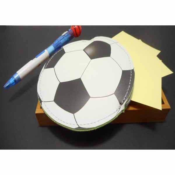 サッカーボール柄のサークルマルチケース キーリング付き【画像5】