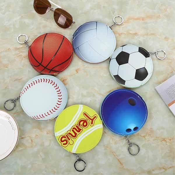 サッカーボール柄のサークルマルチケースキーリング付き【画像9】