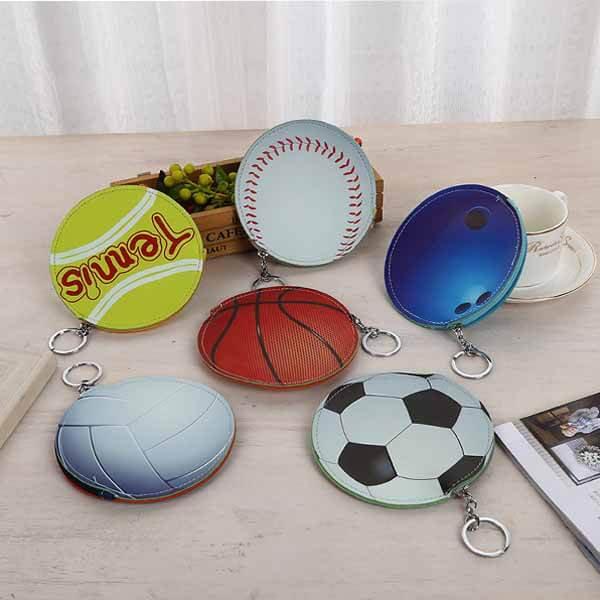 野球ボール柄のサークルマルチケースキーリング付き【画像7】