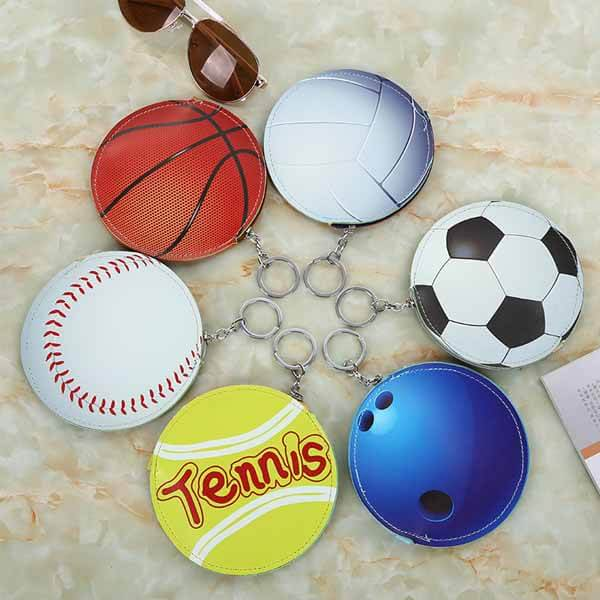 野球ボール柄のサークルマルチケースキーリング付き【画像9】