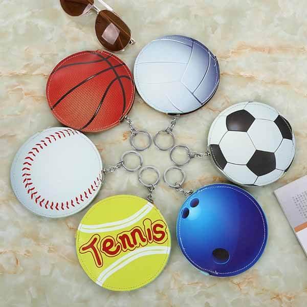 テニスボール柄のサークルマルチケースキーリング付き【画像14】