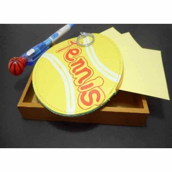 テニスボール柄のサークルマルチケースキーリング付き【画像6】