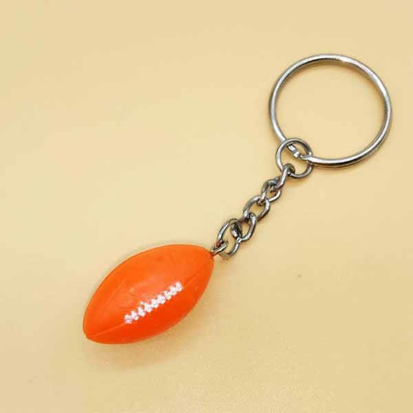 ミニラグビーボールキーホルダー(オレンジ) 1個