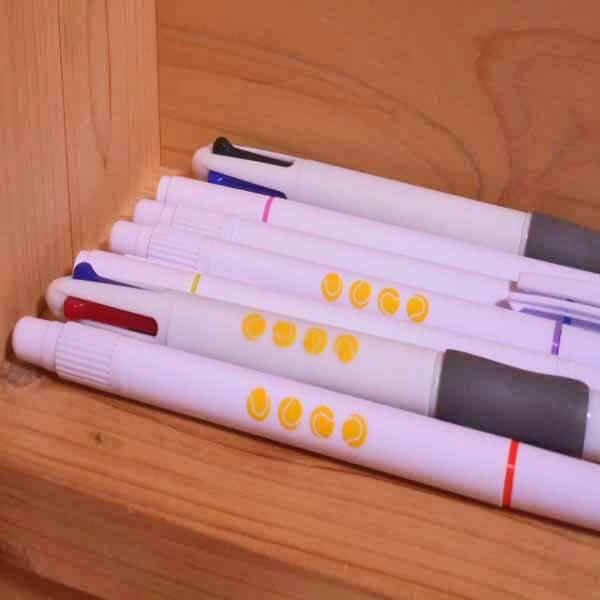 テニスボール柄入りかわいいオリジナル4色ボールペン【画像5】