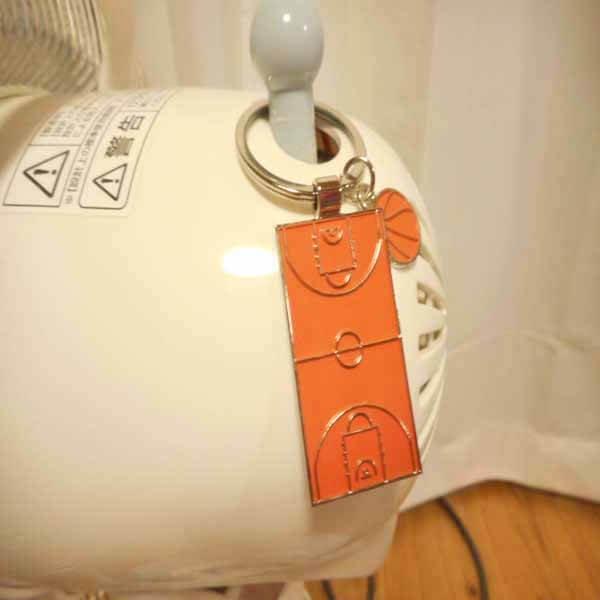 セットでお得 オリジナルダブルキーホルダー バスケットコートとボール 単価358円〜【画像3】