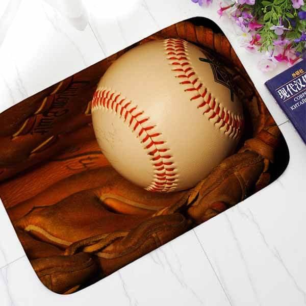 野球柄のユーティリティマット