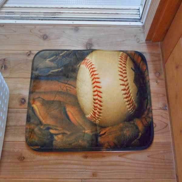 野球柄のユーティリティマット【画像4】