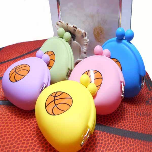 シリコンスポーツがま口財布(小物入れ) オリジナルバスケットボール