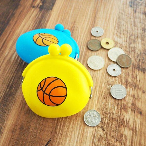 シリコンスポーツがま口財布(小物入れ) オリジナルバスケットボール【画像2】