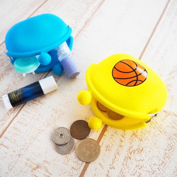 シリコンスポーツがま口財布(小物入れ) オリジナルバスケットボール【画像3】