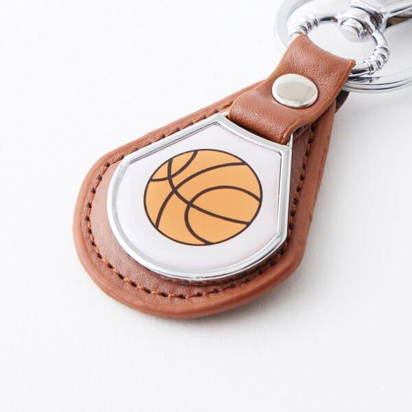クールで便利 バスケットボール柄のフック合革キーホルダー 1個【画像3】