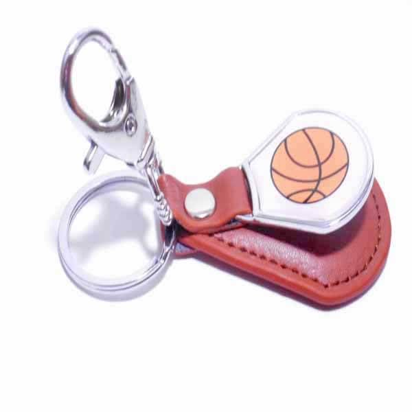 クールで便利 バスケットボール柄のフック合革キーホルダー 1個【画像9】