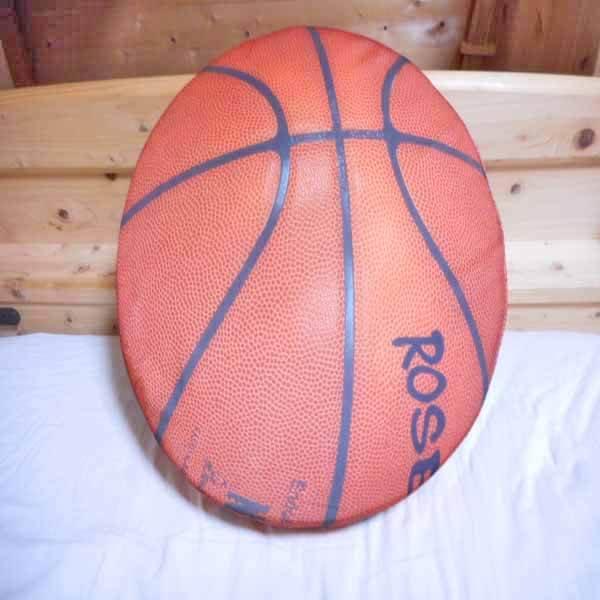 コイン型座布団クッション リアルバスケットボール 1枚【画像2】
