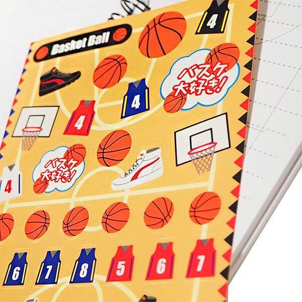 バスケットボールグッズ セットがお得 はがきサイズのオリジナルスポーツシール バスケットボール 単価78円〜【画像4】