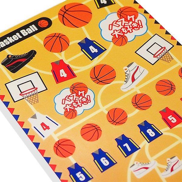 バスケットボールグッズ セットがお得 はがきサイズのオリジナルスポーツシール バスケットボール 単価78円〜【画像5】