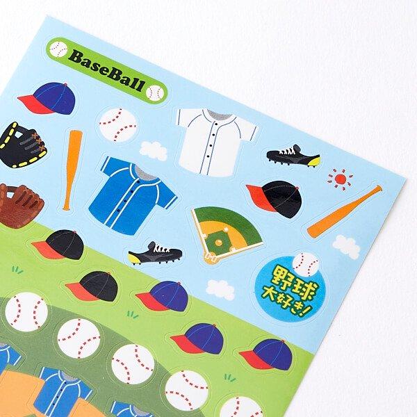 野球グッズ セットがお得 はがきサイズのオリジナルスポーツシール 野球 単価78円〜【画像3】