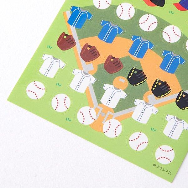 野球グッズ セットがお得 はがきサイズのオリジナルスポーツシール 野球 単価78円〜【画像4】