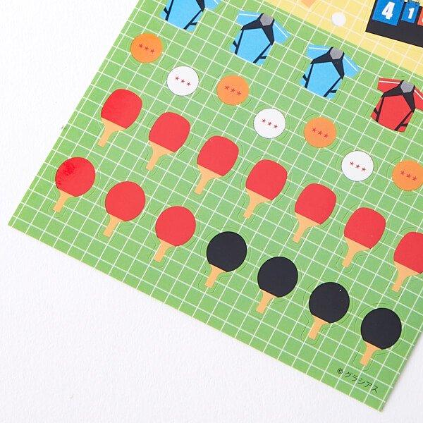 卓球グッズグッズ セットがお得 はがきサイズのオリジナルスポーツシール 卓球 単価78円〜【画像3】