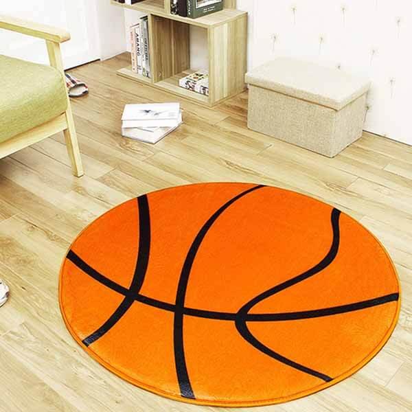 触り心地の良い「もさもさルームマット」 バスケットボール柄