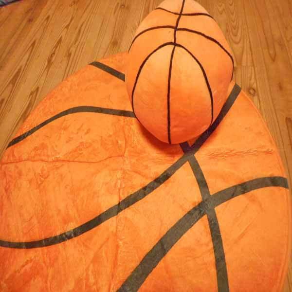 触り心地の良い「もさもさルームマット」 バスケットボール柄【画像4】