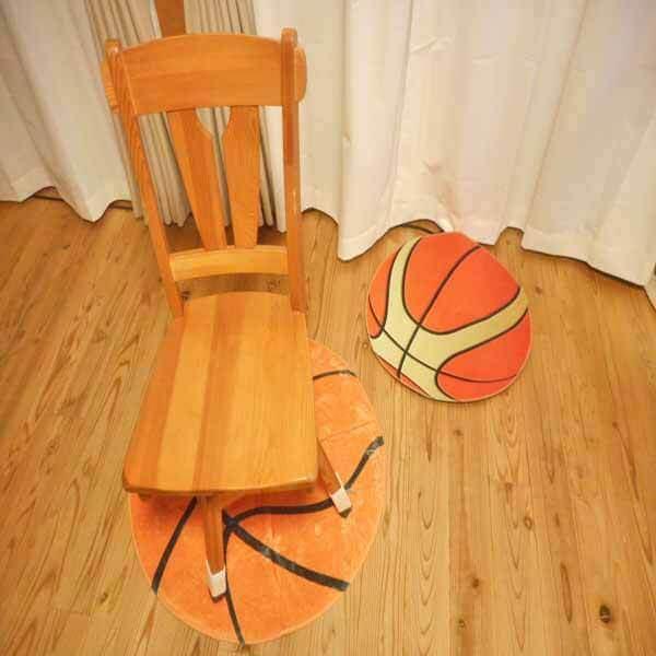 触り心地の良い「もさもさルームマット」 バスケットボール柄【画像5】