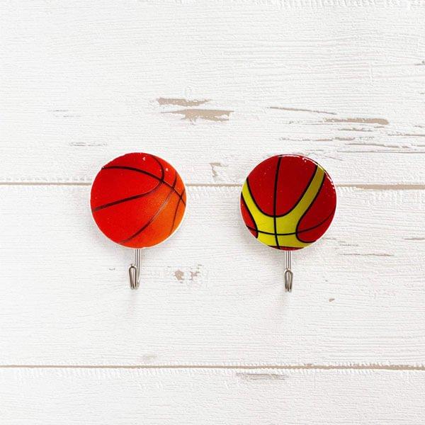バスケットボール柄の壁掛けフック 1個