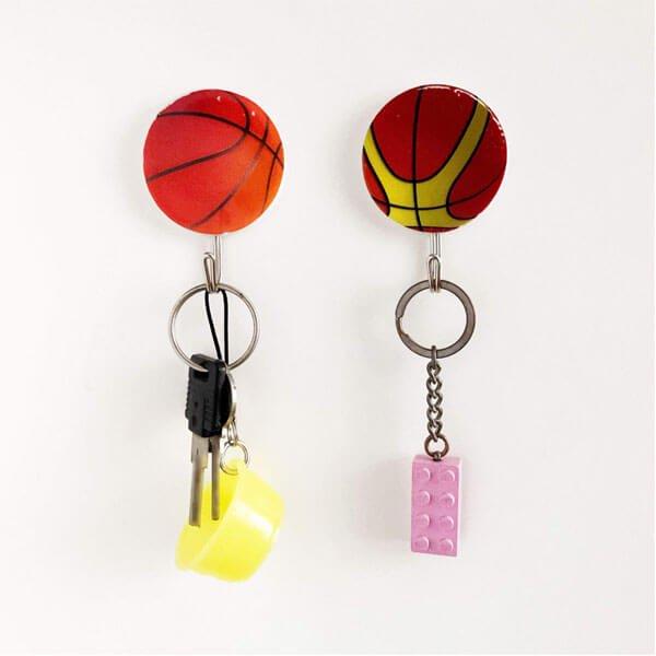バスケットボール柄の壁掛けフック 1個【画像4】