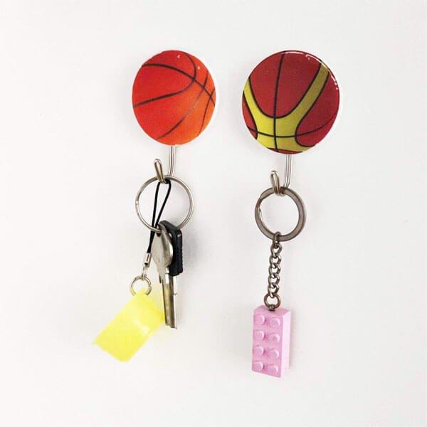 バスケットボール柄の壁掛けフック 1個【画像5】