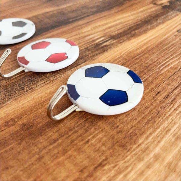 サッカーボール柄の壁掛けフック ランダム1個【画像3】