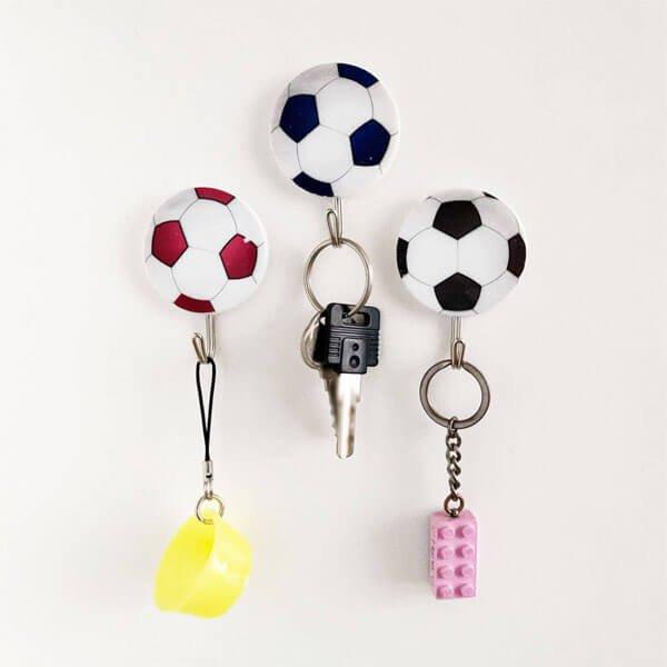サッカーボール柄の壁掛けフック ランダム1個【画像5】