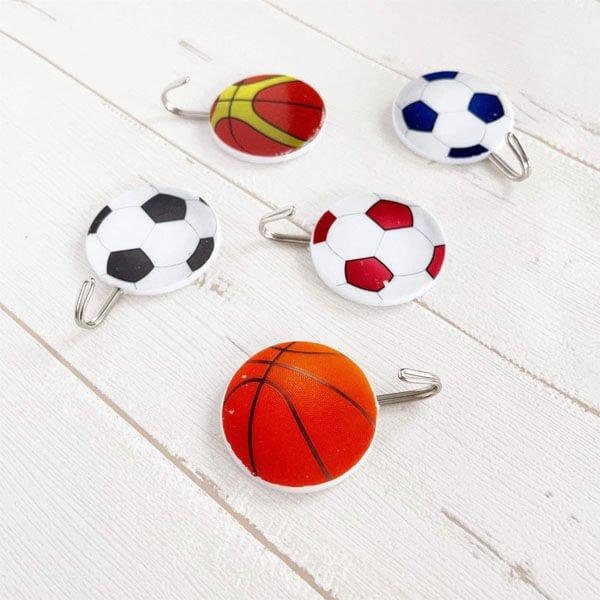 サッカーボール柄の壁掛けフック ランダム1個【画像7】
