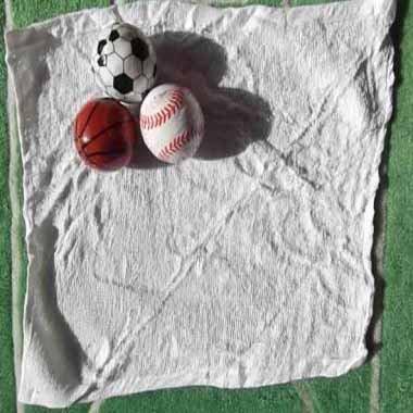 サッカーボールミニタオル(無地)【画像2】