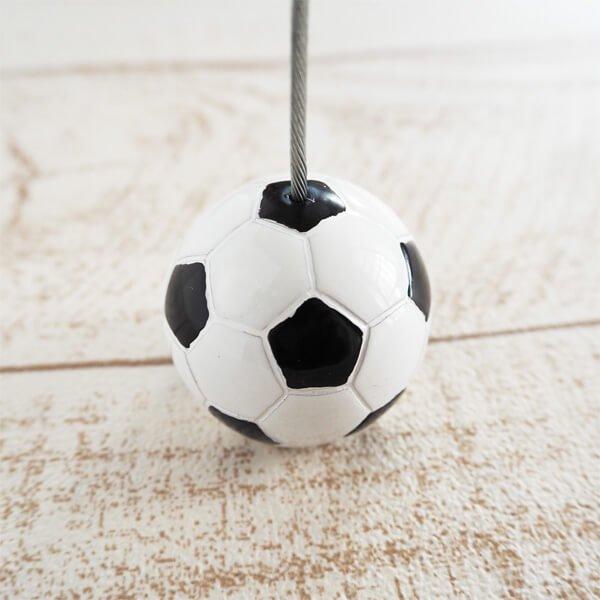 大きいサッカーボールのメモクリップボード
