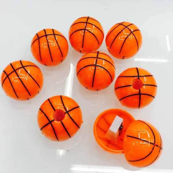 バスケットボール型のミニ鉛筆削り1個(新タイプ)