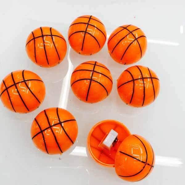 バスケットボール型のミニ鉛筆削り1個(新タイプ)【画像2】