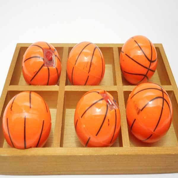 バスケットボール型のミニ鉛筆削り1個(新タイプ)【画像3】