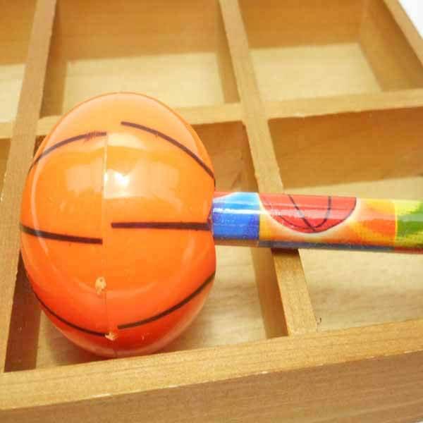 バスケットボール型のミニ鉛筆削り1個(新タイプ)【画像4】