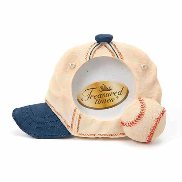 野球グッズ・インテリア 野球のプチフォトフレーム(帽子とボール)