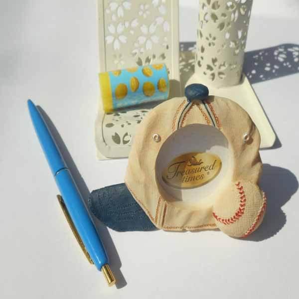 野球グッズ・インテリア 野球のプチフォトフレーム(帽子とボール)【画像4】